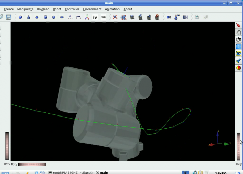 Simulating motion: The tool can simulate and generate the controller code for the real robot.